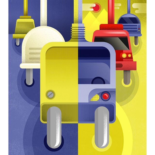 "image: Cover for Rlab ""Dove ci porterà la corrente"", this issue explores the new electric means of transport @larepubblica by mariacorte"