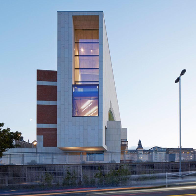 image: Granite-clad library by Carr Cotter & Naessens faces... by waryamaranth