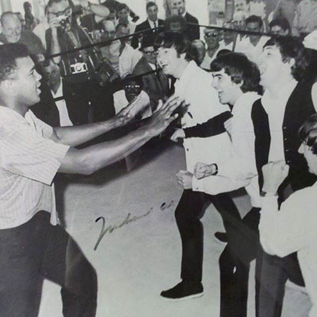 image: The Beatles Trying to hit Ali by bea88