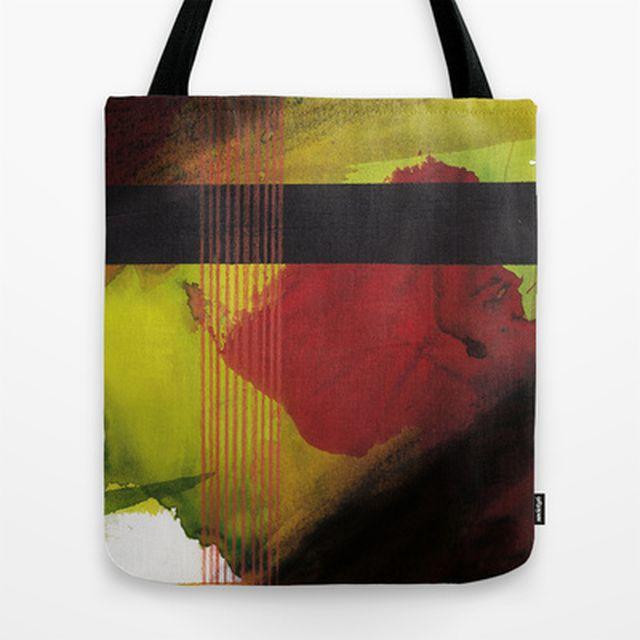 image: greenblack Tote Bag by Sonia García | Society6 by decmykargb