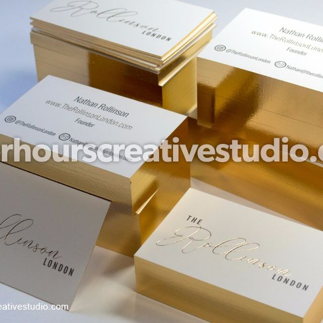 image: Cheap Gold Foil Business Cards | After Hours Creative by hourscreative