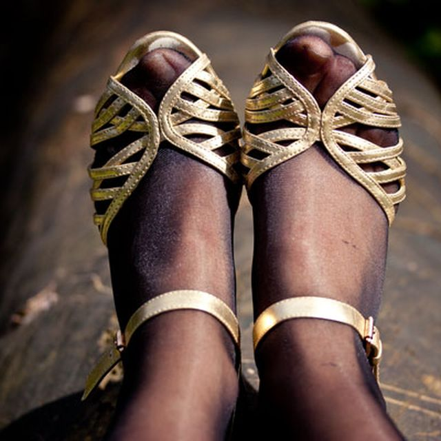 image: Golden sandals by mel-rose-place