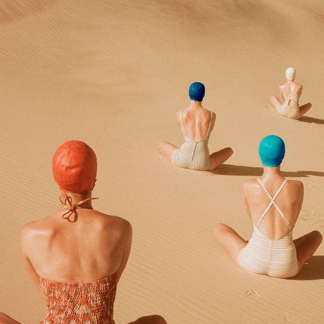 image: Desert swimmers by mariodelarenta