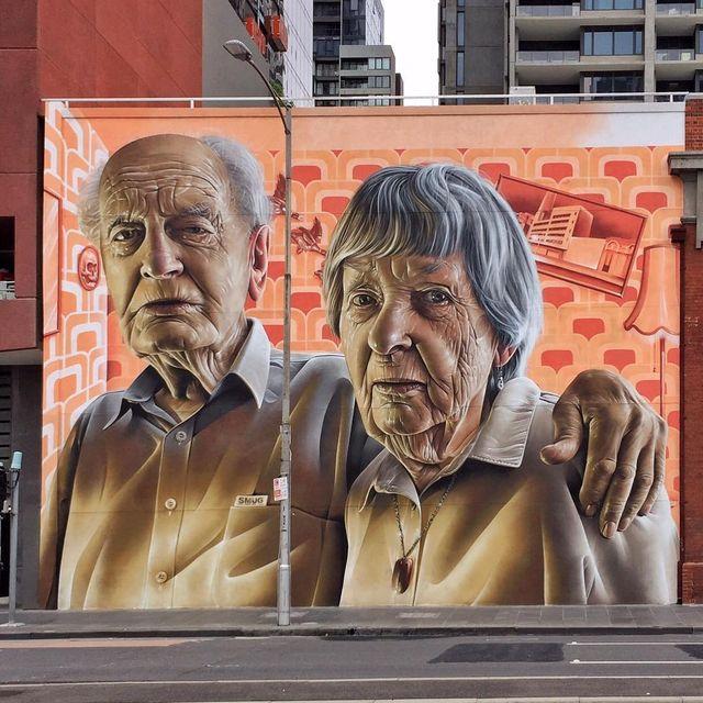 image: @smugone wall in Melbourne, Australia ?? (2016)•#smug #smugone #beingthepaint #streetart #urbanart #publicart #painting #contemporaryart #melbourne by streetart_official