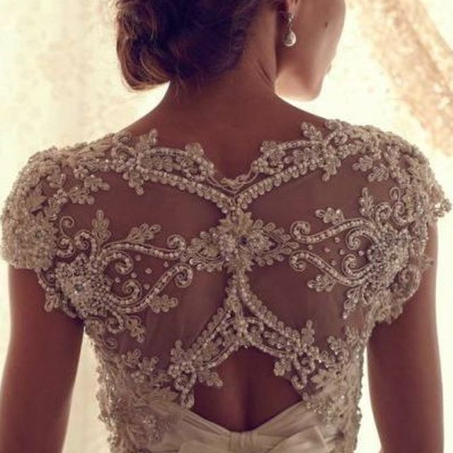image: Lace wedding gown by astrouse