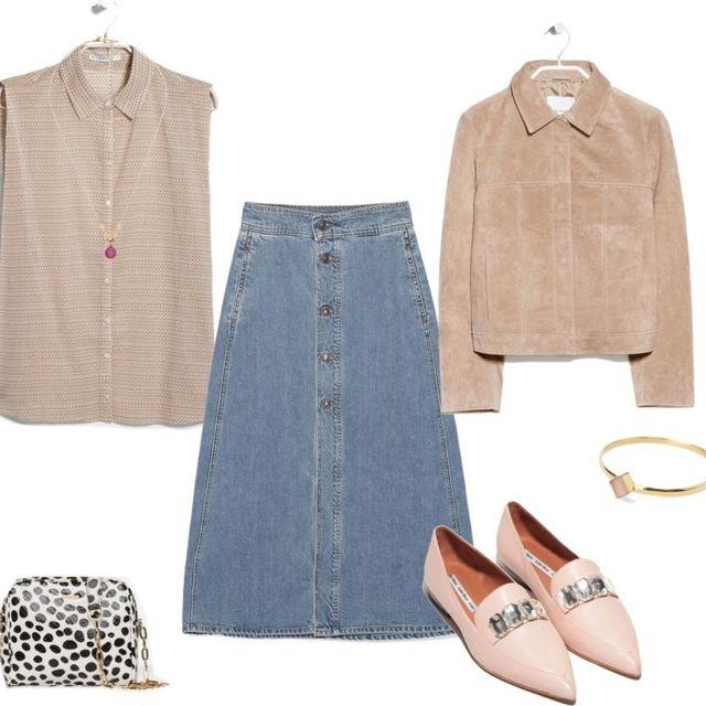 image: New look: the denim skirt | HEELS & PEPLUM by heelspeplum