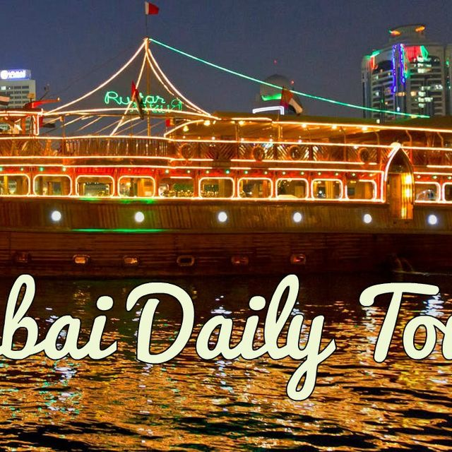 image: Dhow Dinner Cruise in Dubai tours by DubaiDailyTours