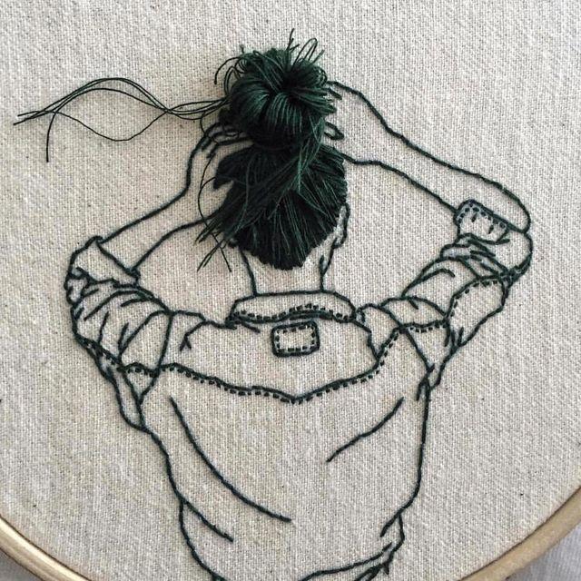 image: Embroidery by @sheenaliam by ratedmodernart