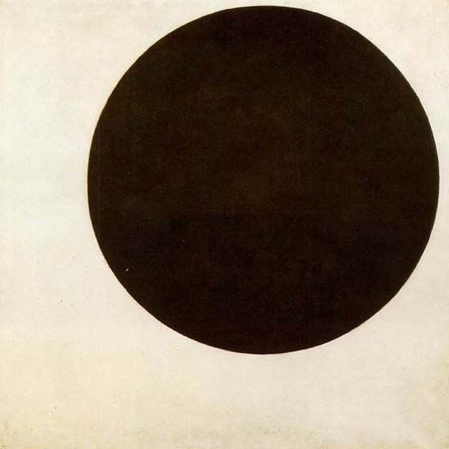 image: Black Circle by Kazimir Malevich 1915. Context: He was a pioneer of geometric abstract art and the originator of the avant-garde Suprematist movement. He was a devout Christian mystic who believed the central task of an artist was that of rendering... by artpsycho