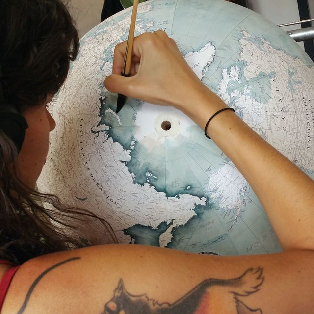 image: Making Globes By Hand by neverdiscrete