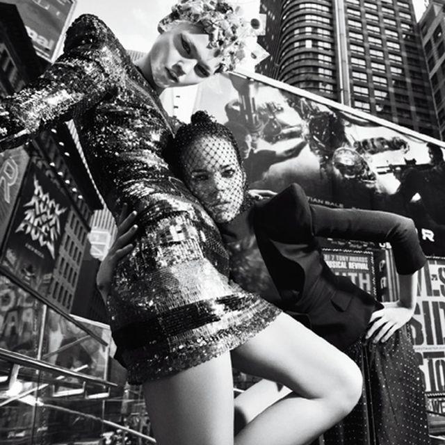 image: Sasha Pivovarova and Freja Beha - Street Wear by ingridfabre