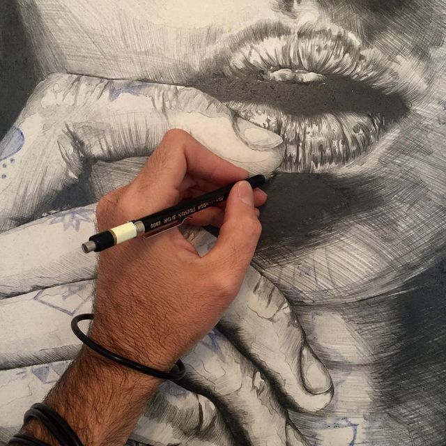 image: Hands and mouth by gabrielmorenoart