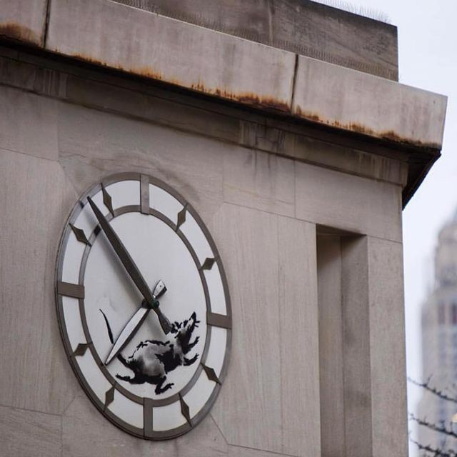 image: New @banksy on the corner of 14th and 6th in New York ?? by bobbysolomon