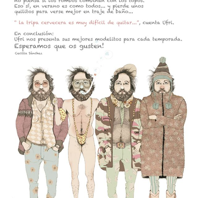"image: ""Las Tendencias de Ufri"" on Behance by ilustracionescecilia"
