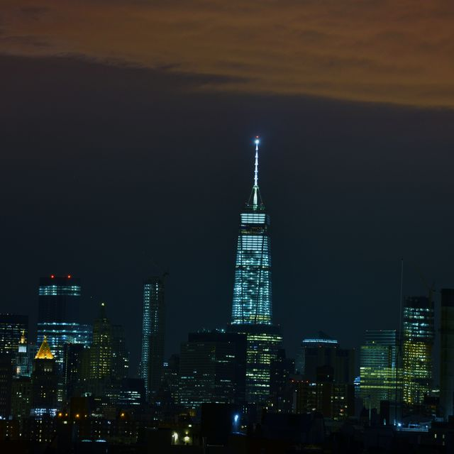 image: Manhattan + the moon by wendy13ird