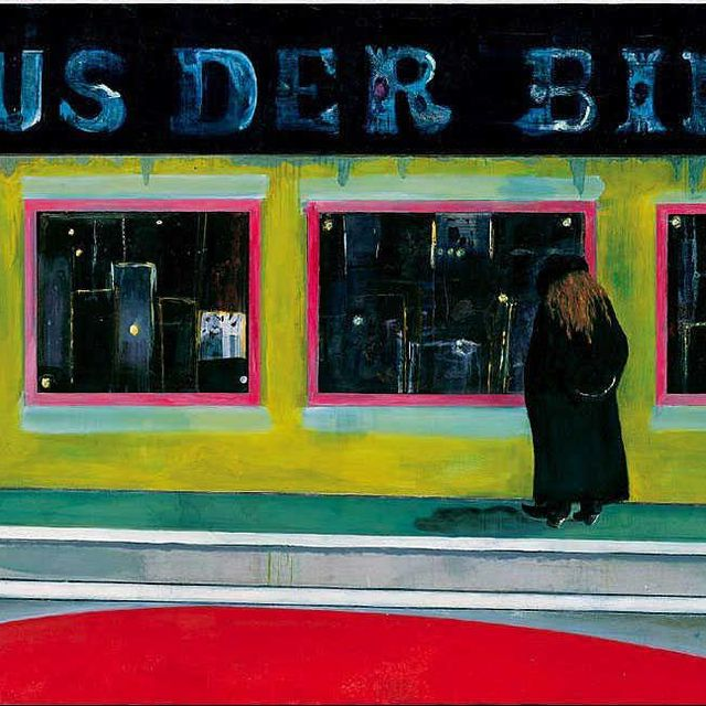 image: Take a Sunday stroll with Peter Doig's 'House of Pictures', an oil on canvas composition he painted between 2000 and 2002. by saatchigallery
