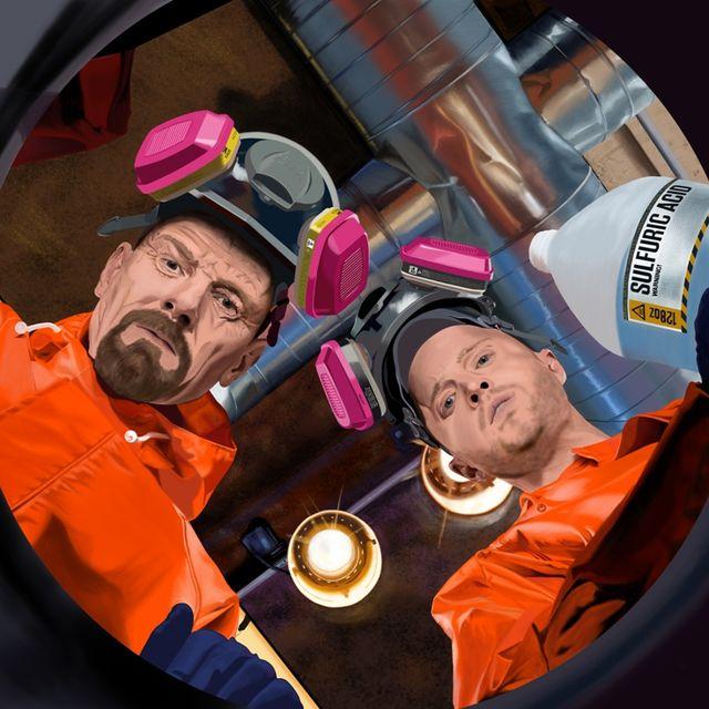 image: Bryan Cranston and Aaron Paul @ TV serie Breaking Bad by gabrielttoro