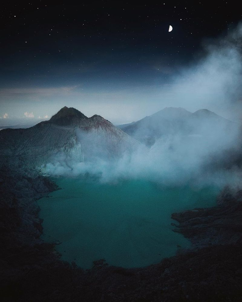 image: As the moon complements the stars, as the stars compliment the nights sky and as the smoke compliments the volcanoes you can compliment me by liking and commenting on this photo ?? by josiahwg