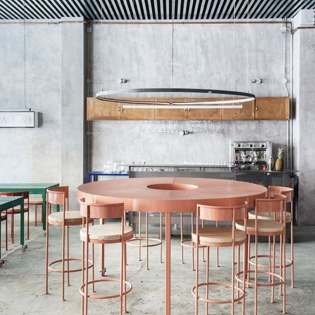 image: ?   Daily Inspiration   ?CASAPLATA X Lucas y Hernández-Gil.••Casaplata restaurant and cocktail barby Spanish architectsLucas y Hernández-Gilespouses a radically modernist sensibility of raw sophistication that combines the grace of Italian... by producture