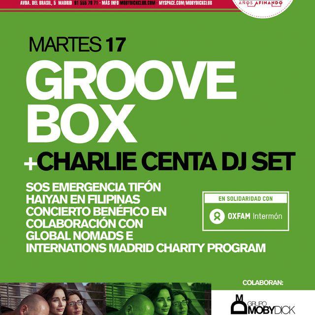 image: GROOVE BOX+CHARLIE CENTA DJ SET - EMERGENCIA FILIPINAS by IntermonOxfam