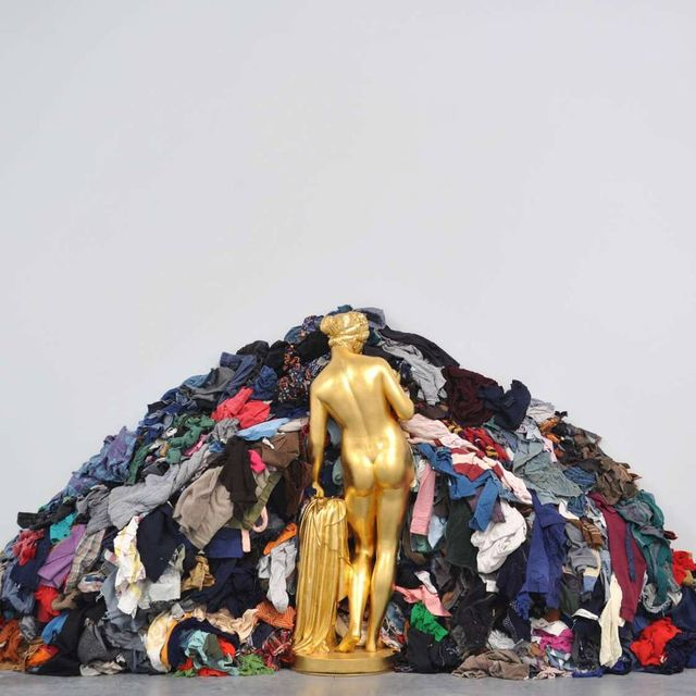 image: We're celebrating another artist's birthday this Friday, the one and only Michelangelo Pistoletto! He glammed up Arte Povera with 1972's 'Golden Venus of the Rags.' by saatchigallery