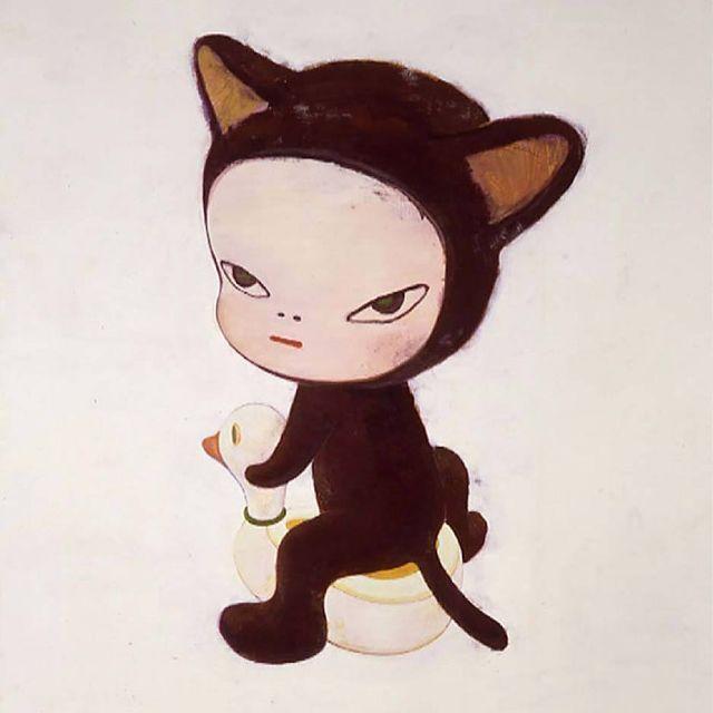 image: Kitty by Yoshitomo Nara #yoshitomonara by avantarte