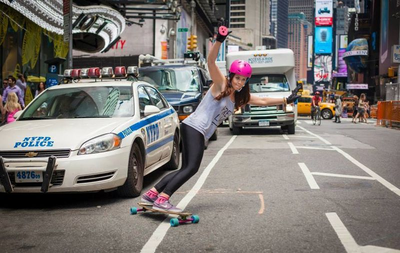 image: Lyndsay Mclaren rocking the streets of NYC! by longboard_girls_crew