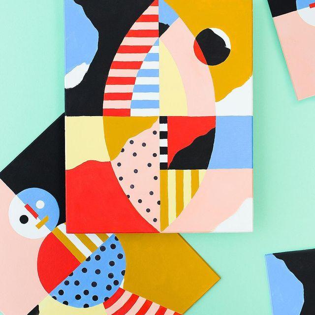 image: Sketches Nº132 & 133 Two unique pieces. Acrylic on paper, 400 gr. 24 x 30 cm. / 24 x 30 cm.#mireiaruiz -Shop.cocolia.cat-#mireiaysuscosas #cocolia #cocoliastudio #colormadefrombarcelona by mireiaysuscosas