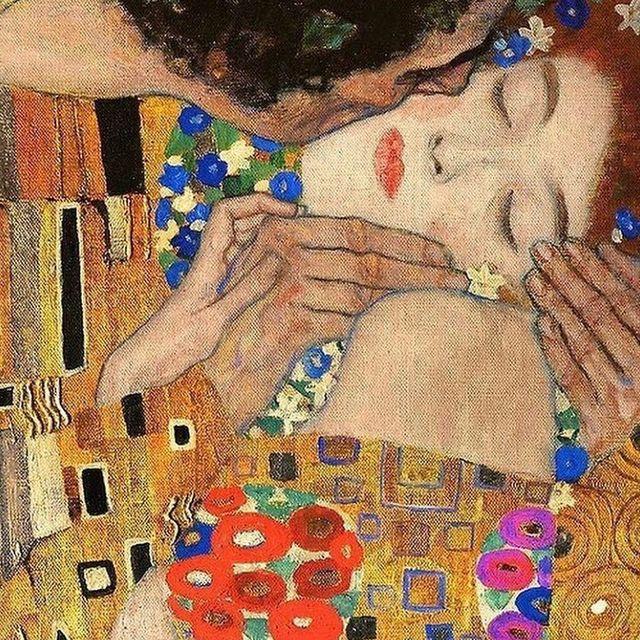 image: Kiss (detail) by Gustav Klimt #gustavklimt by avantarte