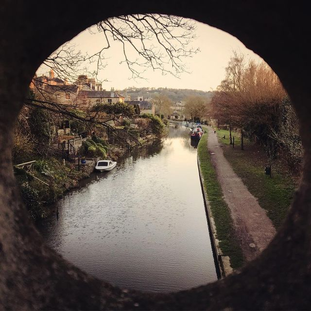 image: Canal view from evening run. by mikekus