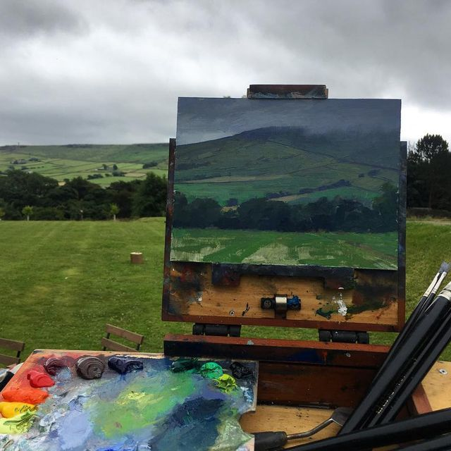image: My first painting in Yorkshire during my workshop at at @rosemarybrushes by jeremylipking