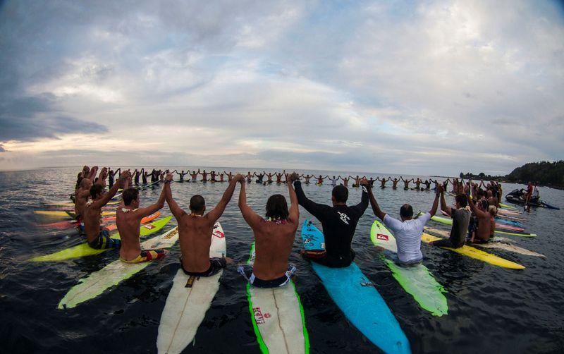 image: The Eddie invitees at Waimea Bay by dr-drake