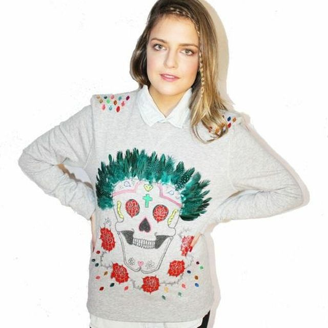image: Mexican Skull sweater by fashioniskillingme