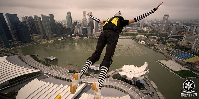image: Skydiving in Singapore by dr-drake