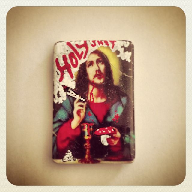 image: HOLY SHIT · STREET ART MAGNET BY MAPYDH by mapydh