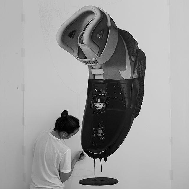 image: Half Dipped Nikes by CJ Hendry by jaqatq