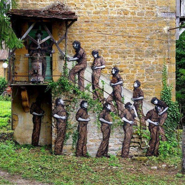 image: - Le saint patron -Installation réalisée pour le @mausa.officiel !Ouverture officielle demain soir! by levaletdessinderue