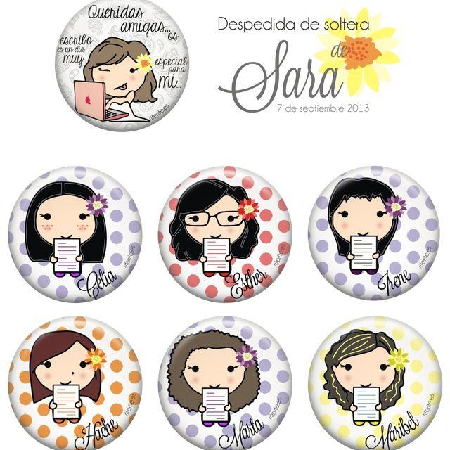 post: Chapas personalizadas despedida de soltera Sara by rite_rite