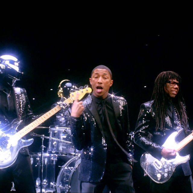 video: Daft Punk Pharrell - GET LUCKY ft. Pharrell Williams by merilin-kook