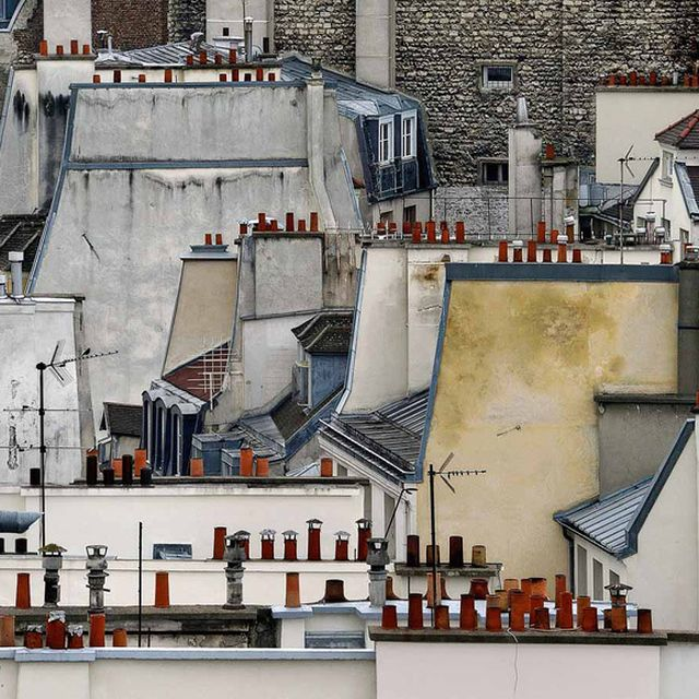 image: michael wolf frames abstract views of parisian rooftops by andreagenova