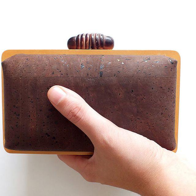 image: Cork box clutch dark by xianna