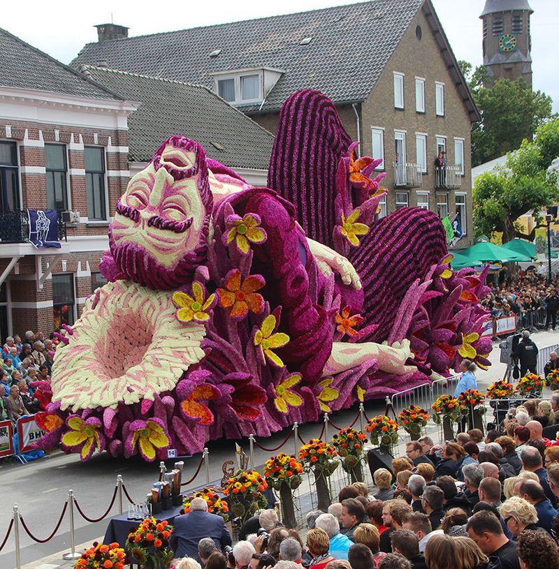 image: Giant Flower Sculptures Honour Van Gogh by jenniferasos
