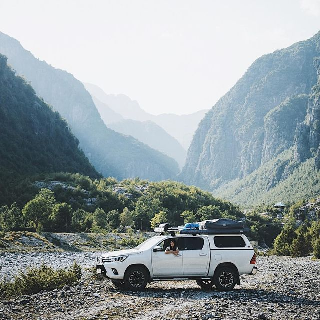 image: Fun times exploring the valley of Theth in Albania @toyota.europe #peaksofeurope by lebackpacker