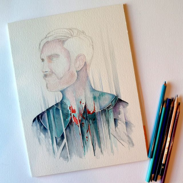 image: Portrait of Abel Azcona, work in progress. by danielrod
