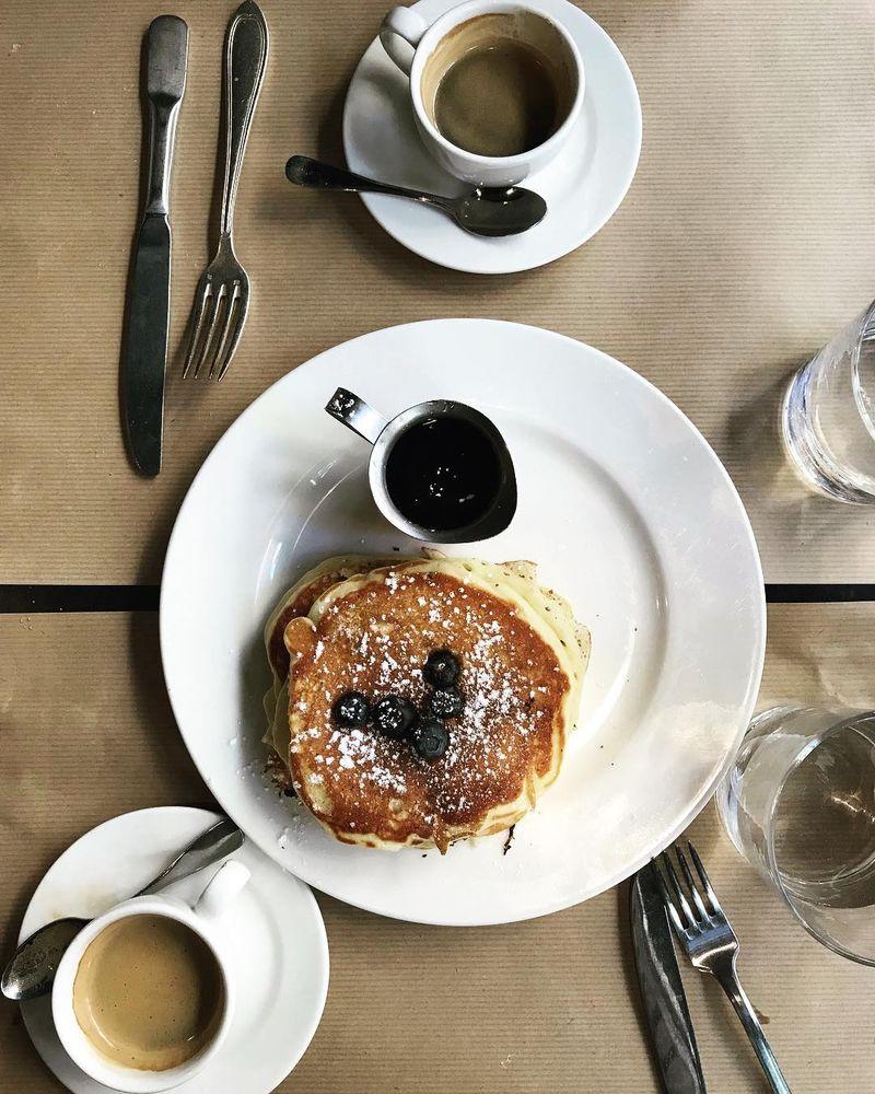 image: Late Sunday brunch @restaurantmarcel #marcel #pancakes #bonneadresse #paris #mespetitespaillettes by mespetitespaillettes