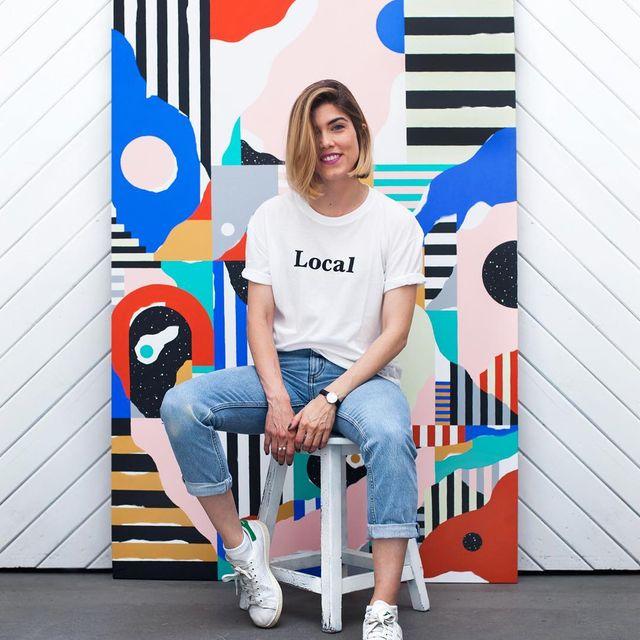 image: Una sonrisa para @localpattern -Thanks! Entrevista #localfaces ?Link in bio ? #localpattern Shot by @amirkuckovic -#mireiaysuscosas #cocolia #cocoliastudio #localpattern #mireiaruiz #barcelona #painting by mireiaysuscosas