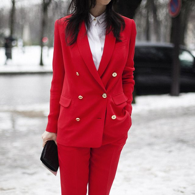 image: PARIS FASHION WEEK RED STREETSTYLE by peeptoes
