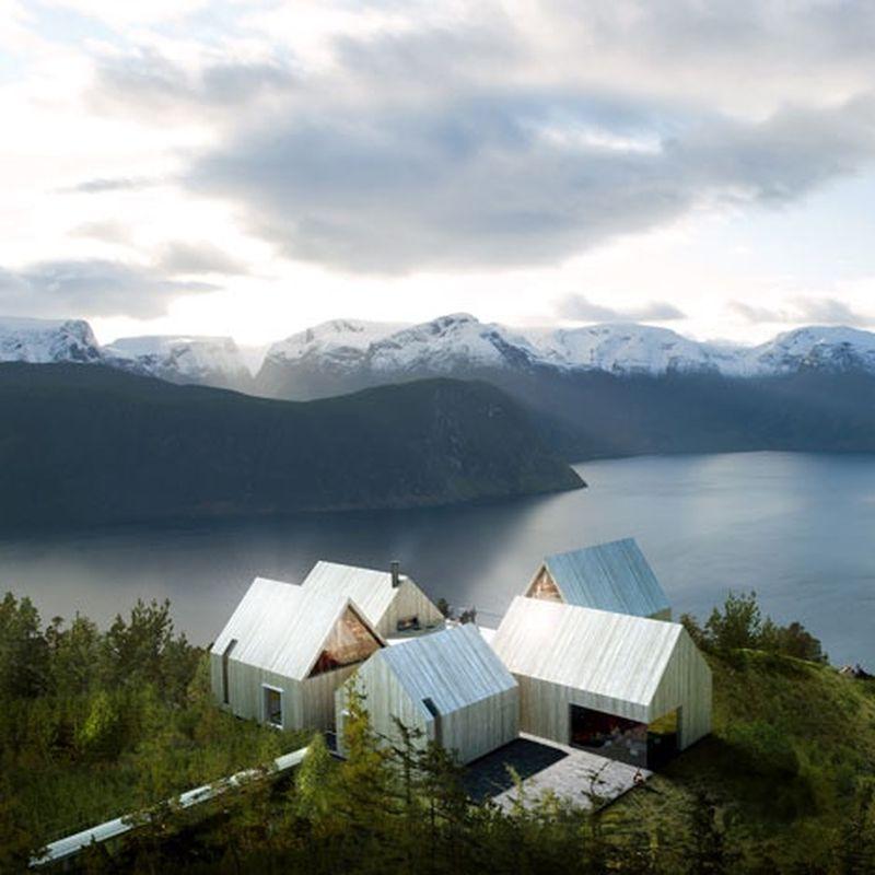 image: Mountain Lodge on Sognefjorden by somewhereiwouldliketolive