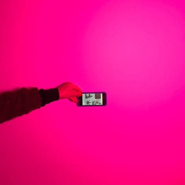 image: Light test ? #onset #setlife #pink #skypanel by valleeduhamel