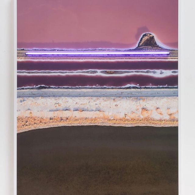 "image: @james_porschen Meditation (03)45x60"" Pigment print with purple neon... by ratedmodernart"